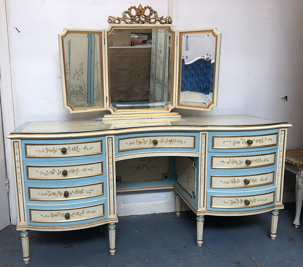 Hand painted dressing table