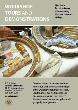 E & A Wates rworkshop tours and demonstrations flyer.